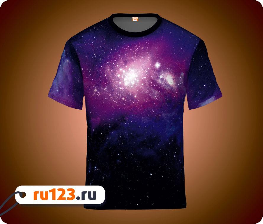 футболка печать космос