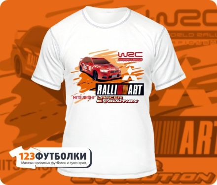 Футболка Mitsubishi Lanser Evolution Ralli Art форматная