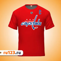 Красная футболка Washington Capitals