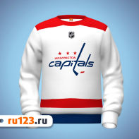 Белая толстовка Washington Capitals