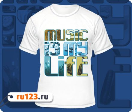 Футболка «Music is my Life»
