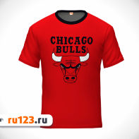 Футболка красная NBA Chicago Bulls