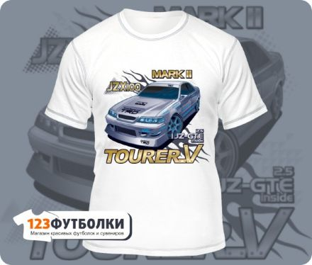 Белая Футболка Toyota Mark II JZX100
