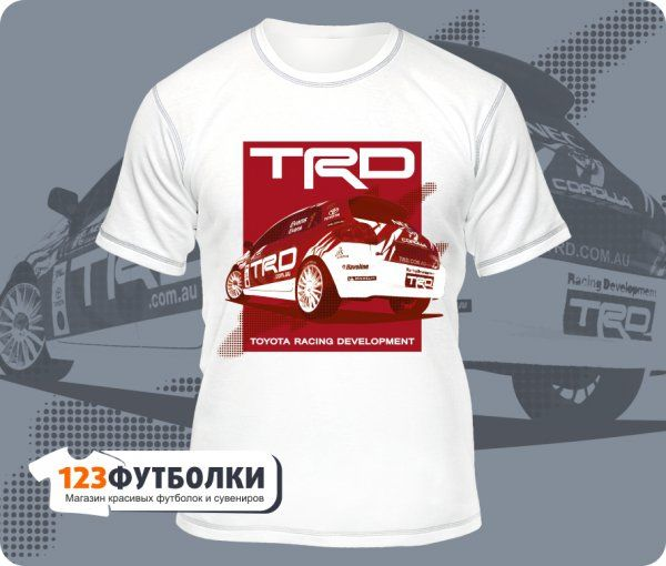 Белая футболка Toyota Racing Development