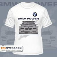 Футболка белая с логотипом BMW Power