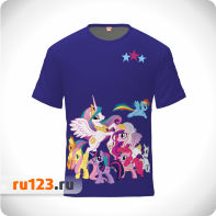 Футболка My Little Pony синяя