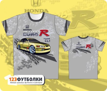 Серая футболка Honda Accord Euro R