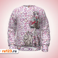 Розовый свитшот Monster High