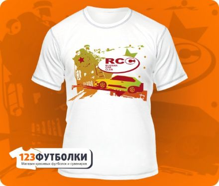 Футболка RCC (Russian Car Club) белая