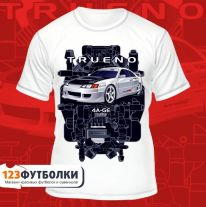 Футболка белая Trueno Black Top